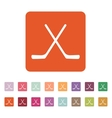 The hockey icon Game symbol Flat vector image vector image