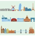 travel outdoor euro trip vacation travelling vector image