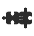 two piece of puzzle vector image vector image