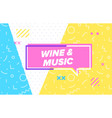 wine and music in design banner template vector image vector image