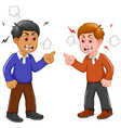 angry two men arguing vector image