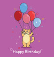 cartoon cat with air balloons vector image