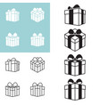present box icon in various styles vector image