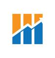 graph arrow business finance logo vector image