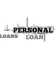 a beginners guide to personal loans text word vector image vector image