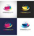 abstract 3d shopping logo template for your vector image vector image