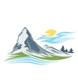 Abstract high mountain vector image vector image