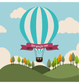 Air balloon over landscape background vector image