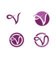 beauty v letter logo template design vector image vector image