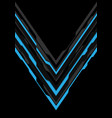 blue grey arrow futuristic direction on black vector image vector image