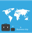 business trip with a map of the earth vector image