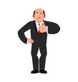 businessman winks and thumb up shows well sign is vector image