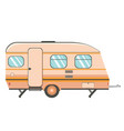 camper trailer design vector image