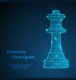 chess queen background vector image vector image