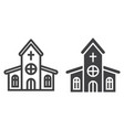 church line and glyph icon easter and holiday vector image vector image