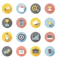 Colorful business icons flat set vector image vector image