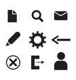 computer digital icons symbols vector image