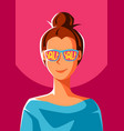 cute girl in sunglasses with sale vector image