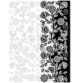 Decorative floral pattern vector image vector image