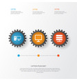 device icons set collection of desktop personal vector image vector image