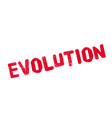 evolution rubber stamp vector image