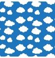 Flat design cloudscapes seamless pattern