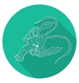 Flat icon of zodiac sign Cancer vector image vector image