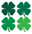 glitter shamrock icons vector image vector image