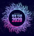 happy new year 2020 neon poster vector image vector image