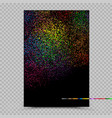 holi colors poster banner paper template vector image vector image