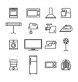 home appliances icons from thin lines vector image vector image