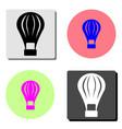 hot air balloon flat icon vector image
