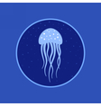 Jellyfish under water icon Marine life vector image vector image