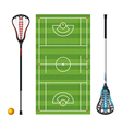 Lacrosse Field Equipment Ball vector image vector image