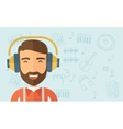Listen to music vector image