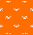 live crab pattern seamless vector image vector image