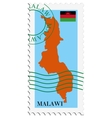 mail to-from Malawi vector image