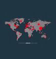 map worldwide coronavirus pandemia spread vector image