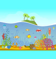 marine world background vector image vector image