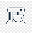 mixer concept linear icon isolated on transparent vector image