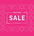 modern trendy sale banner template design vector image
