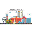 nevada las vegascity skyline architecture vector image vector image