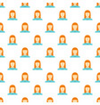 new woman avatar pattern seamless vector image vector image