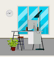 office interior modern interior design vector image vector image