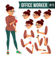 office worker woman professional officer vector image vector image
