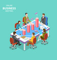 online business meeting isometric flat vector image