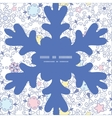 ornamental abstract swirls Christmas snowflake vector image