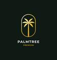 palm tree premium logo vector image vector image