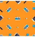 Pattern with social media elements vector image