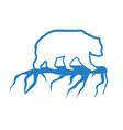polar bear and global warming logo vector image vector image